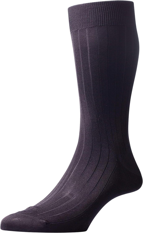 Pantherella Asberley Silk Blend Mid Calf Mens Formal Dress Socks