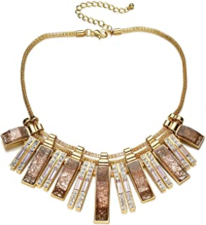 Fsmiling Vintage Gold Chain Sparkly Stone Crystal Collar...