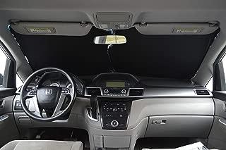 A1 Shades Windshield Sun Shade Premium-Fabric-240T Size Chart for Cars SUV Trucks Minivans Sunshades Keeps Your Vehicle Cool Heat Shield (2pc - M)