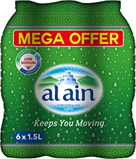 Al Ain Bottled Drinking Water Mega offer Pack - 1.5 litres (Pack of 6)