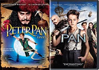 Pan Movie DVD + Peter Pan Live Special Edition Musical Fantasy Movie Bundle Double Feature set