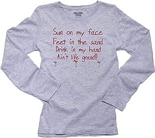 Sun On My Face Feet in The Sand Ain't Life Grand Women's Long Sleeve T-Shirt