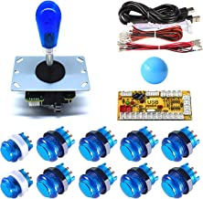 Arcity 1 Player Arcade LED Buttons and Joystick Kits Illuminated DIY Controller USB Encoder to PC Games 8 Ways Joystick Ba...