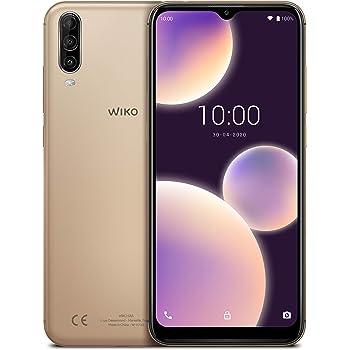 """WIKO Y80 + Carcasa – Smartphone 4G de 5,99"""" (Octa-Core 1,6 GHz, Cámara Dual 13 MP, batería 4000 mAh, 16 GB de ROM, 2 GB de RAM, Android 9, Dual SIM) – Color Dorado: Wiko: Amazon.es: Electrónica"""