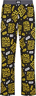 Star Wars May The Force Be With You Print Black Lounge Pant Pyjama Bottoms by Re:Covered