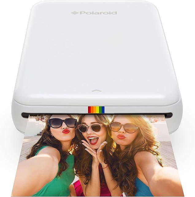 Polaroid Zip - Impresora móvil Bluetooth Nfc micro USB tecnología Zink Zero Ink 5 x 7.6 cm compatible con iOS y Android blanco 2.2 x 7.4 x 12 cm