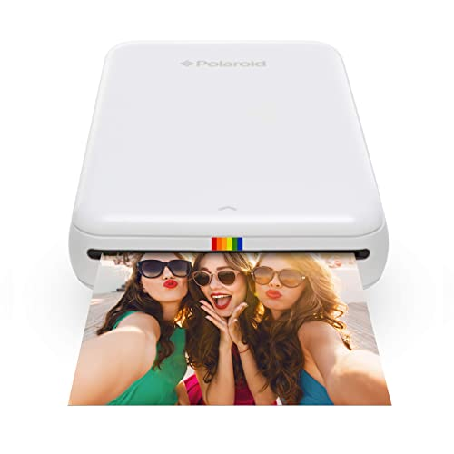 Polaroid Zip 2 x 3 Inch Wireless Mobile Photo Mini Printer, Compatible with iOS and Android, NFC and Bluetooth Devices, Zink Zero Ink Printing Technology - White