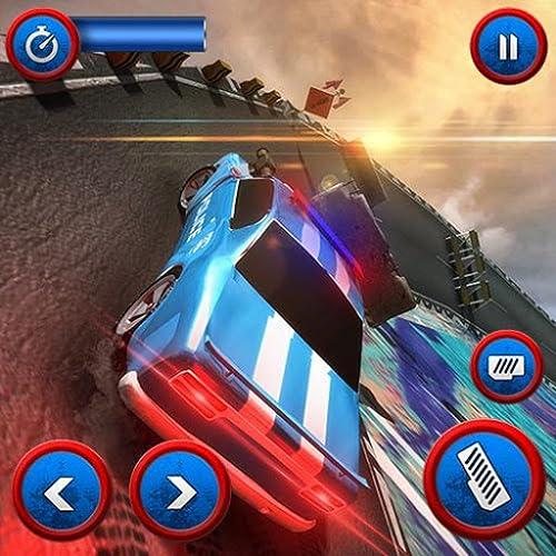 Tricky Polizeiwagen Stunts: Autorennen Stunt Game
