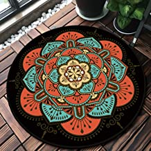 Nordic Round Carpet,Children Crawling Mat,Comfortable/Easy to Clean, Unique Pattern Floor Mat,Computer Carpet,Sofa Blanket...