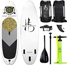 High Society Inflatable Stand Up Paddle Board SUP, Blow Up Paddleboard for Adults and Kids, Extra Wide Standup Paddleboards Made for Ocean Rivers or Lakes, Also Used for Fishing, USS HS