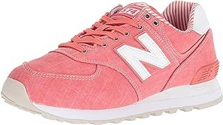 New Balance Women's 574v2 Sneaker, Spiced Coral/White, 7.5 D US