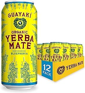 Guayaki Yerba Mate | Organic Alternative to Herbal Tea, Coffee and Energy Drink | Bluephoria | 150 mg of Caffeine, 15.5 Fl...