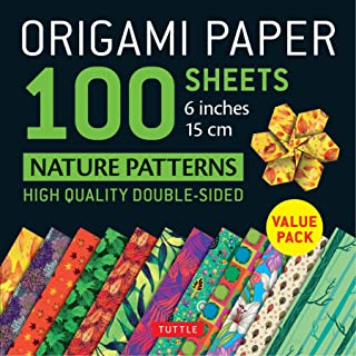 Origami Paper 100 sheets Nature Patterns 6 inch (15 cm): High-Quality Origami Sheets Printed with 8 Different Designs (Ins...