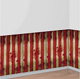 AMSCAN Creepy Carnival Room Roll, Halloween Props and Decor, Plastic, 4' H x 40' L