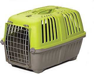 Pet Carrier: Hard-Sided Dog Carrier, Cat Carrier, Small Animal Carrier in Green | Inside Dims 17.91L x 11.5W x 12H & Suita...