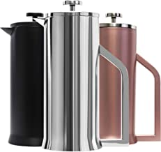 Lafeeca French Press Coffee Maker - Stainless Steel Double Wall Vacuum Insulated - Large Thermal Brewer 34 oz 1000 ml Poli...