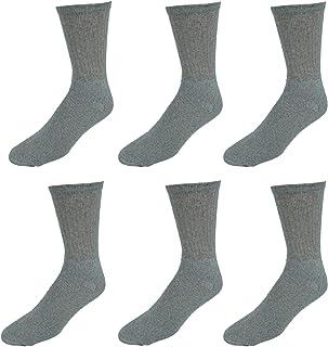 Lightning Men's Crew Cotton Blend Sport Socks 6 Pair Value Pack