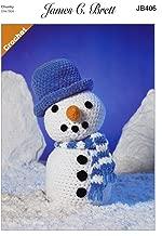 James Brett Flutterby Chunky Crochet Pattern Frosty the Snowman Fun Toy (JB406)