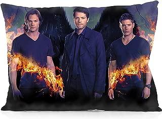 DoubleUSA Supernatural Jensen Ackles Jared Padalecki Pillowcases Two Sides Print Zipper Pillow Covers 20