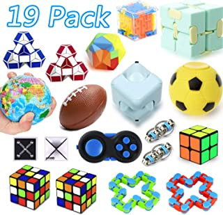 25 Pack Sensory Fidget Toys Set, Party Favor Christmas Toy Assortment, Birthday Party, School Classroom Rewards, Carnival Prizes, Pinata Fillers and Goodie Bags Fillers for ADHD Autism Stress Anxiety