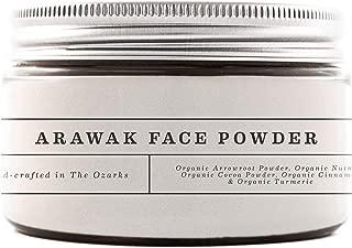 Creek Baby Organic Arawak Face Powder for Sensitive Skin, Tinted Loose Light shade, Cruelty Free