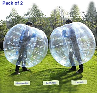 FOSHAN MINGZE Set of 2 Commercial Grade Inflatable Bumper Ball, PVC Wearable Knocker Zorbing Ball, Giant Bubble Soccer Ball for Outdoor Play Team Game (2)
