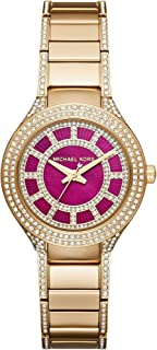 Michael Kors Mini Kerry Women's Pink Dial Stainless Steel Band Watch - MK3442