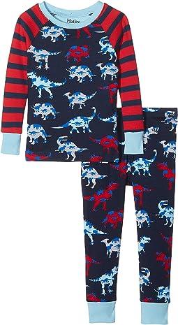 Hatley Kids - Lots of Dinos Raglan PJ Set (Toddler/Little Kids/Big Kids)