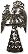 Standing Metal Angel Playing The Guitar Made from Recycled Steel in Haiti Fair Trade Project