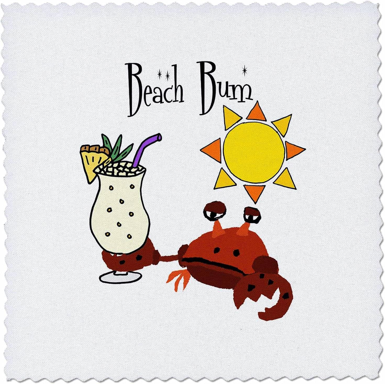 3dRose Funny unisex Max 76% OFF Cute Beach Bum Pun C Colada Pina with Crab drinking