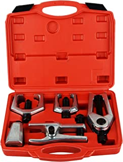 DA YUAN 5pcs Professional Front End Service Tool Kit, Pitman Arm Puller, Ball Joint Separator Tie Rod Remover Tool