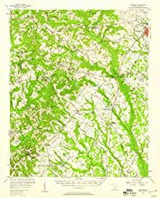 YellowMaps Ashwood SC topo map, 1:62500 Scale, 15 X 15 Minute, Historical, 1957, Updated 1958, 20.7 x 16.8 in