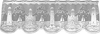 Heritage Lace Lighthouse 60-Inch Wide by 15-Inch Drop Valance, White