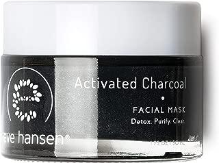 Eve Hansen Activated Charcoal Bentonite Clay Face Mask | Detoxifying Facial Mask with Dead Sea Mud, Kaolin Clay, Lavender, Camellia | Blackhead Remover, Acne Scar, Pore Minimizer | 1.7 oz