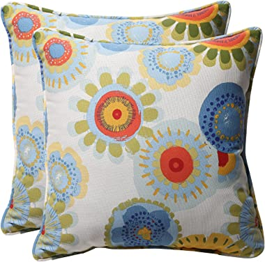 """Pillow Perfect Outdoor/Indoor Crosby Confetti Throw Pillows, 18.5"""" x 18.5"""", Multicolored, 2 Pack"""