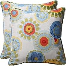 Pillow Perfect Decorative Floral Square Toss Pillows, 18-1/2L x 18-1/2W x 5 D, Multicolored