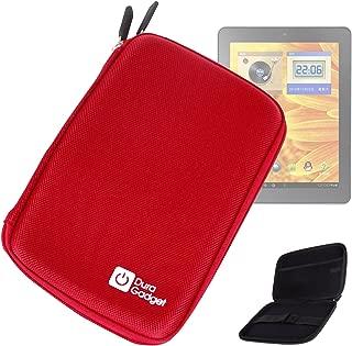 DURAGADGET Red Super Resilient Hard Shell Case with Cushioned Net Accessories Pouch Compatible with Archos 97Carbon, Archos 97b Titanium, 97 Titanium HD, 97 Platinum HD & Archos 80 G9