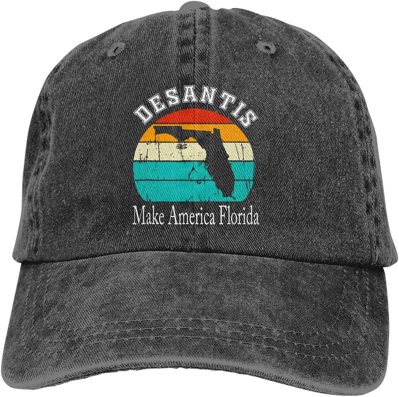 Cellova Desantis 2024 Hat Make America Florida Baseball Cap Adjustable Washable Cotton Trucker Cap Dad Hat