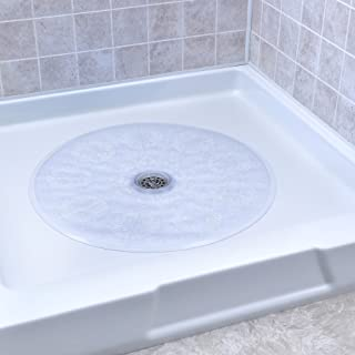 SlipX Solutions Clear Round Shower Stall Mat Provides Reliable Slip-Resistance (23