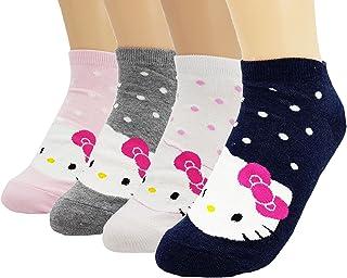 (ジェイジェイマクス) JJMax 女性Hello Kittyかわいいキティちゃんショットソックスファション靴下セット Women's Hello Kitty Cute Cotton Blend Ankle Socks Set [並行輸入品]