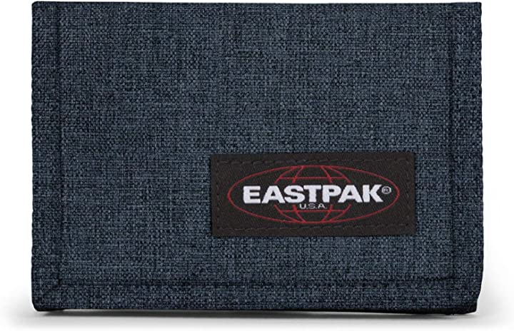 Eastpak crew single portafoglio, 13 cm, blu (triple denim) EK37126W