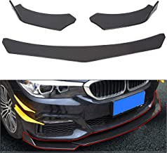 ECOTRIC Black Universal Front Bumper Lip Chin Spoiler ABS for Audi,Ford,BMW,Honda,Chevrolet,Civic,Benz,Mazda,GMC Car