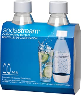 SodaStream .5L Slim White Carbonating Bottles Twin Pack