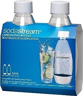 SodaStream .5L Slim White Carbonating Bottles Twin Pack
