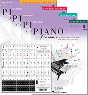Piano Adventures Level 3B Learning Set By Nancy Faber - Less