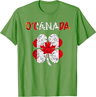 Canada Flag T Shirt St Patricks Day Party Clothes Beer Team