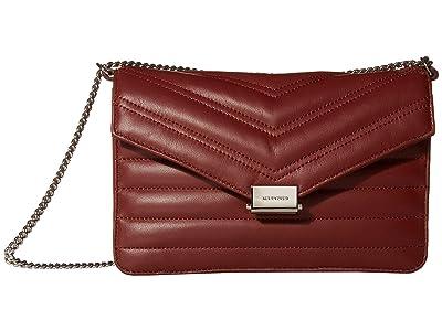 AllSaints Justine Crossbody (Brick) Handbags