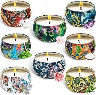 McNory 8 Piezas Regalo de Velas Perfumadas,Velas Aromaticas, Cera de Soja Natural,Aromaterapia Decoración para Relajación ...