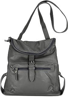 Belli ital. Echt Leder Rucksack Backpack London Handtasche Umhängetasche Rucksacktasche - 28x26x10 cm B x H x T