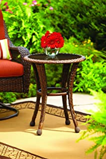 """Better Homes and Gardens Azalea Ridge 20"""" Wicker Round Outdoor Side Table 24""""h.."""